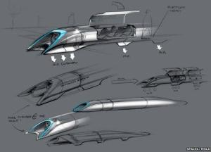 "Elon Musk's near-supersonic ""Hyperloop"""