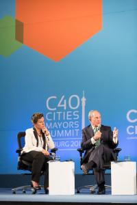 With Mike Bloomberg at the Johannesburg C40 meeting